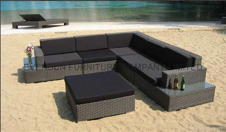 Luxury Rattan Corner Sofa Set 1