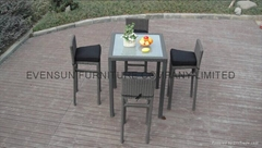 Hot sale bar furniture rattan bar chair with table