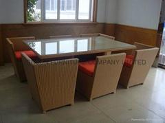 Space saving dining furniture