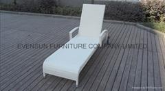 aluminium frame sun lounger