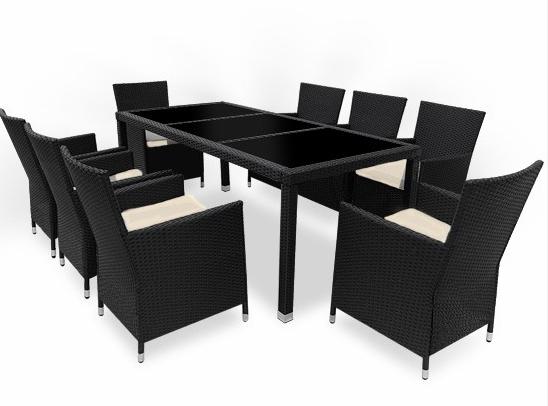 black rattan dining set 1