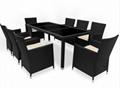 black rattan dining set