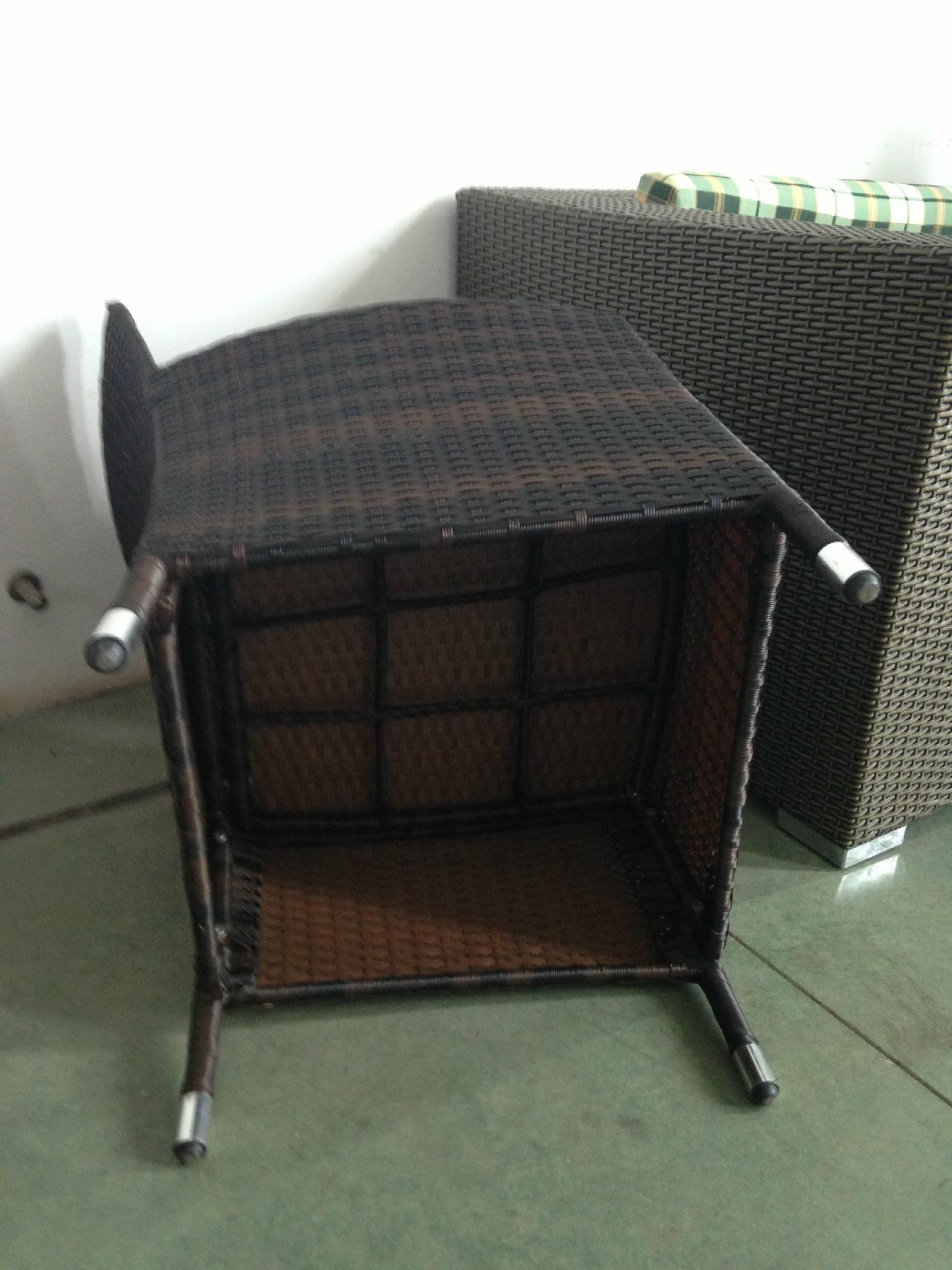 black rattan dining set 3