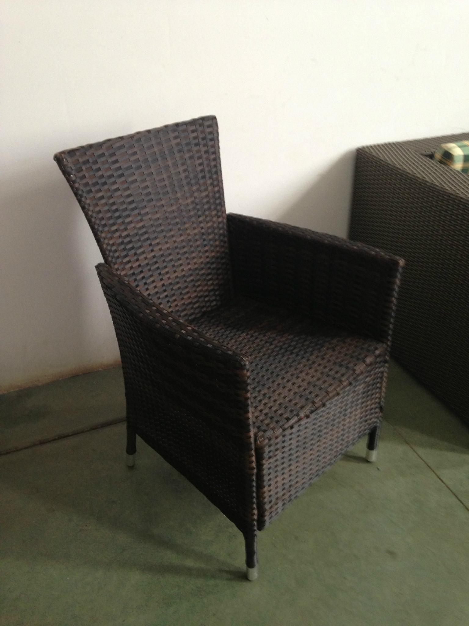 black rattan dining set 5