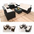 6pcs rattan 3 2 1  sofa set