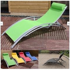 Outdoor patio furniture Alum. textilene lounge