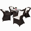 High quality weatherproof poly rattan wicker garden dining set