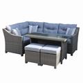 5pcs corner sofa set +  2 stools