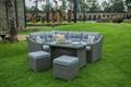 5pcs corner sofa set +  2 stools  5