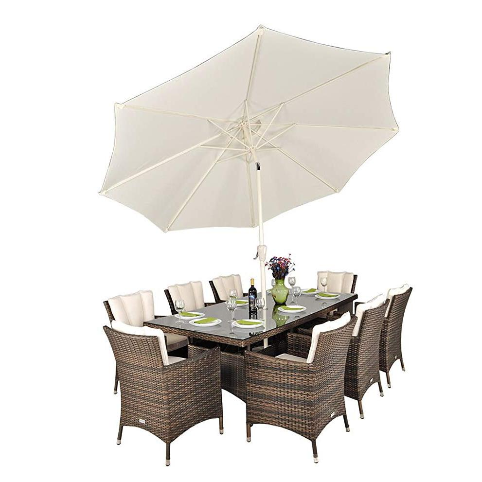 8pcs dining chair with one long table  1