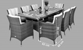 8pcs dining chair with one long table