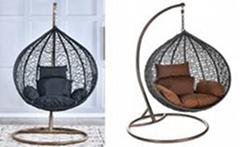 Hanging Basket Wicker Chair Indoor Balcony Hammock Hanging Chair Single Cradle C