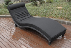 Patio furniture garden sunbed rattan outdoor lounge chair