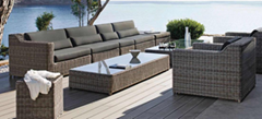 Patio Garden Furniture Rattan Sectional Sofas Set