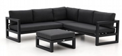 Weatherproof Sofa Pure and Simple Style with Casual Cushions