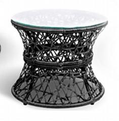 Modern Stainless Steel White Glass Tea Table