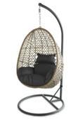Patio Park Garden Outdoor Wooden Swing Egg Rattan Chair Cushions Hammock Hanging