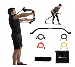Portable Home Gym Resistance Band System | Weightlifting & HIIT Interval Trainin