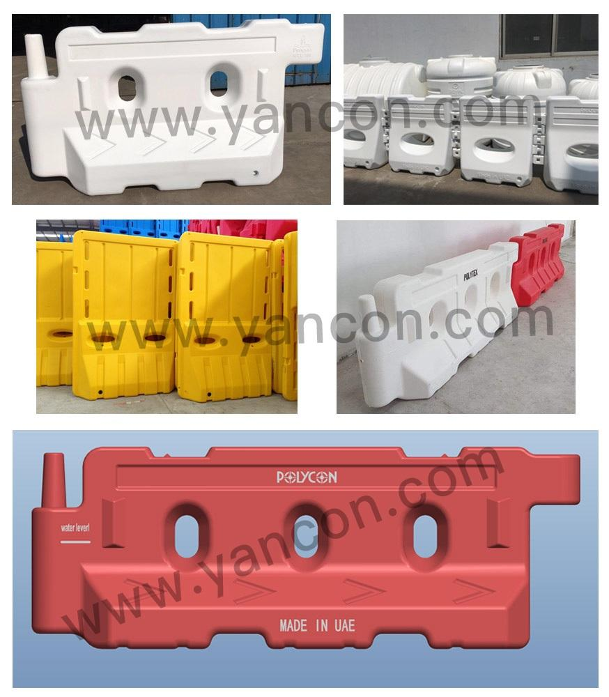 Plastic Road Safety Barrier Signal Traffic Block Blow Molding Making Machine  4