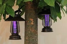 2014 Stainless Steel Solar LED Decorative Outdoor Mosquito Killer Light 2