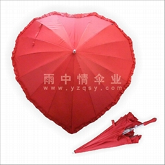 Heart-shaped umbrella