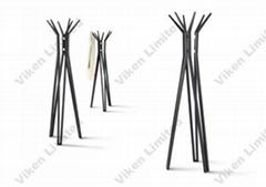 Polar Solid Bamboo Coat Rack/ Coat Hanger (5017)