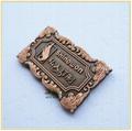 供應皮具沙發鋅合金壓鑄鍍紅古銅商標銘牌 5