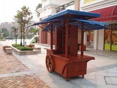 户外园林木制售货车