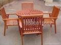 户外木桌椅 2
