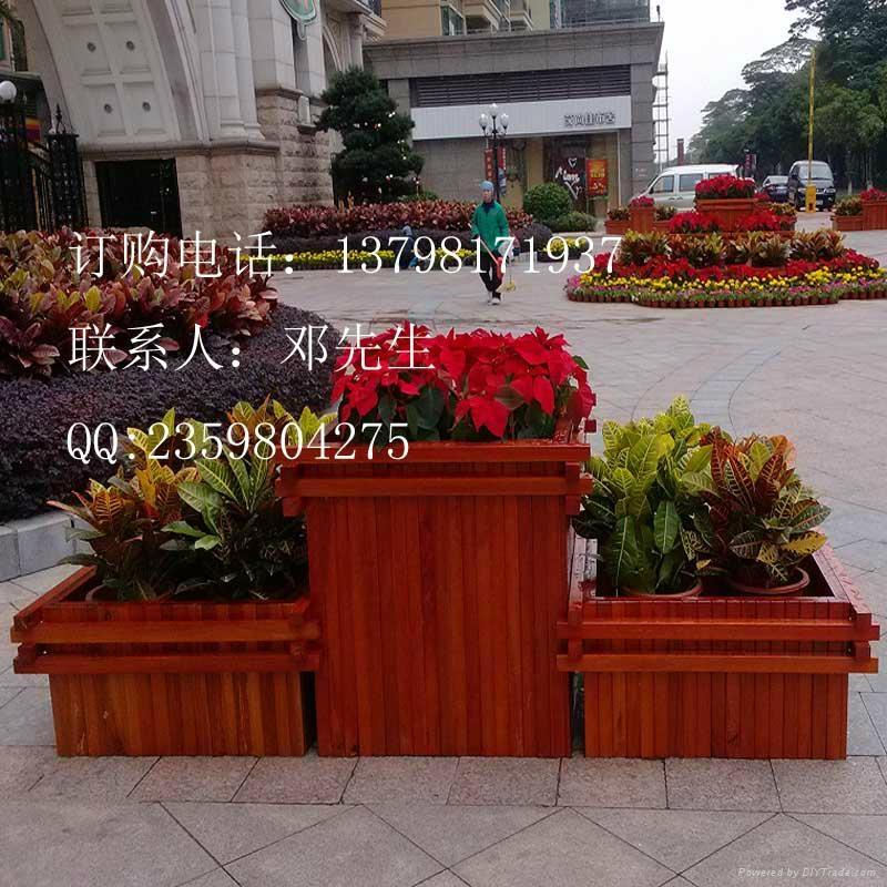 街道户外防腐木花箱 3