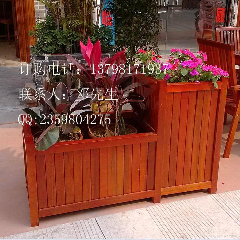街道户外防腐木花箱 5