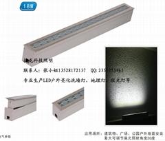 18W偏光線形地埋燈 LED可調角度嵌入式埋地燈