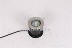 圓形LED金黃光地埋燈 偏光地埋燈可調角度