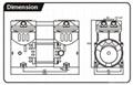 静音活塞式无油压缩机 AP-550C 2