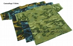 camouflage T-shirt printed