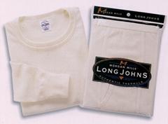 waffle knit interlock thermal set underwear