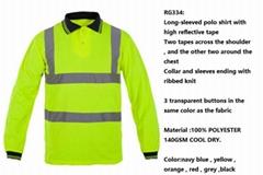worker reflective wear polo shirt workwear