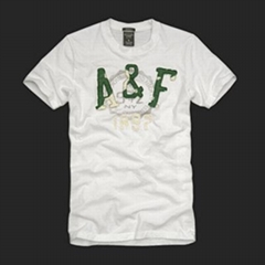 T-shirts fashion with printing washing patch embroidey