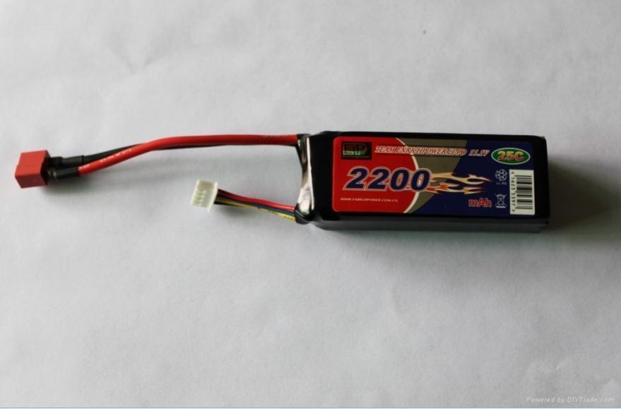 Lithium Polymer battery 2200-11.1V-25C 1