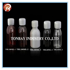 60-100ML PET PLASTIC BOTTLE FOR LIQUID MEDICINE
