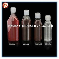 100-230ml  pet plastic bottle for liquid medicine