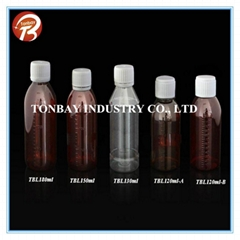 120-180ml pet plastic bottle for liquid medicine