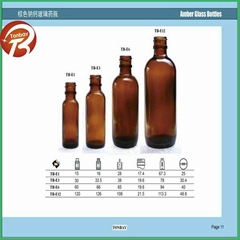 20ml soda-lime USP Type III Diameter 18mm amber glass bottle