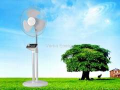 Cheap Price 16'' Solar Stand Fan in 16W with Brushless DC Motor