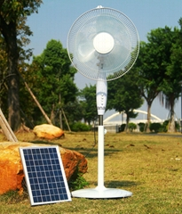 16 Inch AC&DC Operated Solar Stand Fan with Brushless DC12V Motor