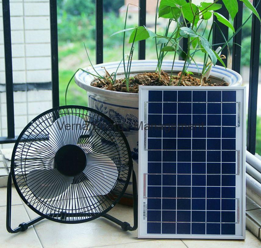 Low Cost 8'' 6W Solar DC Fan 12V Best for Solar System Using 1