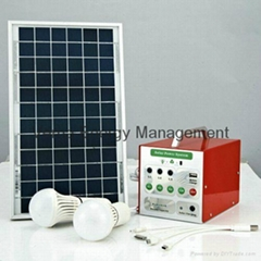 DC12V Solar Camping Lighting System with 5W Solar Panel 3W LED Light