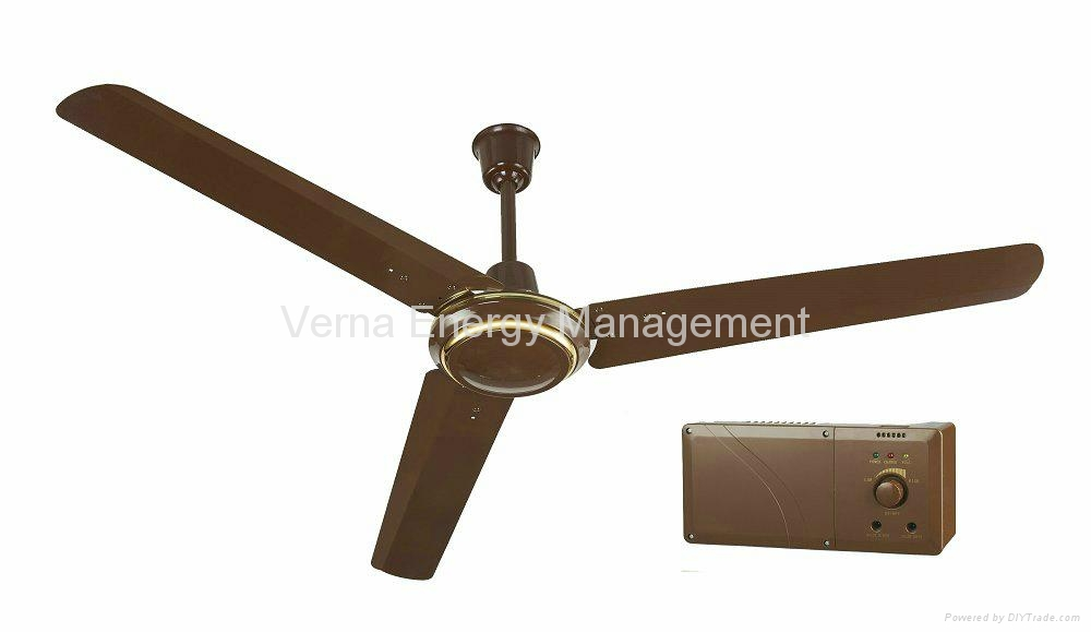 56 Solar Powered Ac Dc Rechargeable Ceiling Fan With 7ah