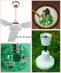 Two Years Warranty 48'' Battery Ceiling Fan 12V 25W Fan for Solar System