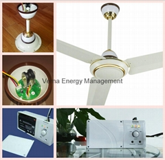 56'' Solar Powered AC DC Rechargeable Ceiling Fan with 7AH Battery BLDC Motor